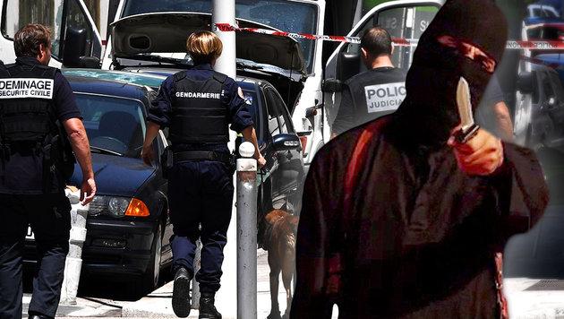"""IS ruft """"totalen Krieg"""" gegen alle Europäer aus (Bild: APA/AFP, krone.at-Grafik)"""