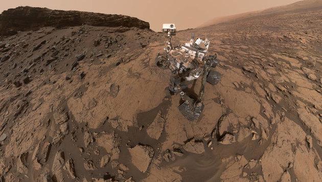 """Marsrover """"Curiosity"""" wagt sich in neue Höhen (Bild: NASA/JPL-Caltech/MSSS)"""