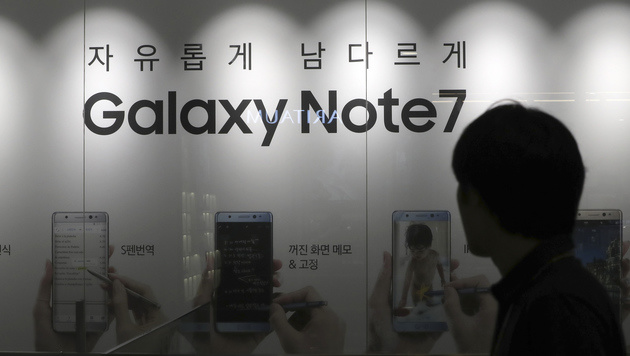 Note-7-Fiasko kostet Samsung 2,8 Milliarden Euro (Bild: AP)
