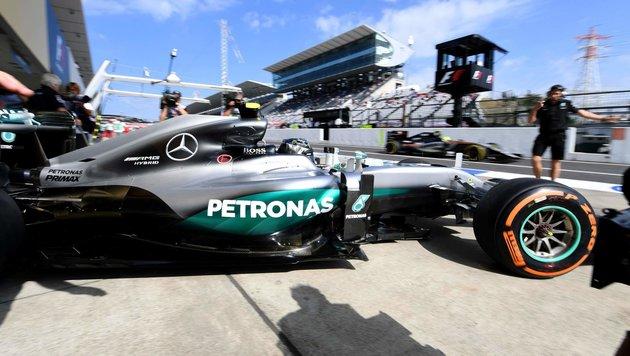 Suzuka: Rosberg gewinnt erstes Kräftemessen (Bild: APA/AFP/TOSHIFUMI KITAMURA)