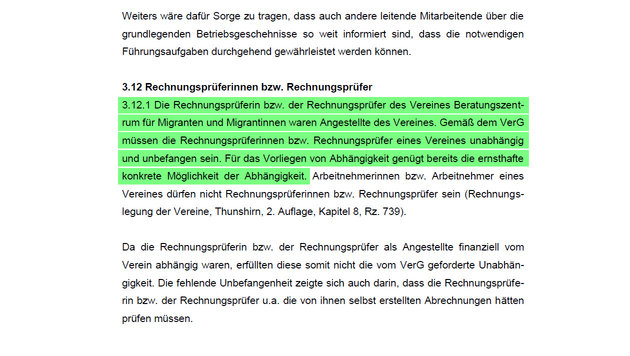 Förderung für Migrantenberatung trotz Gewinn (Bild: Stadtrechnungshof Wien)