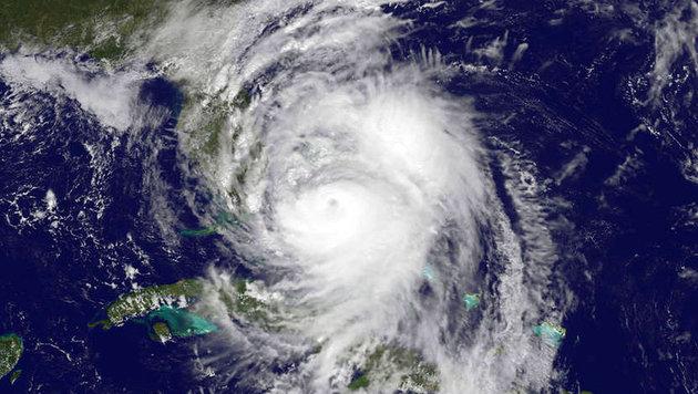 """Hurrikan """"Matthew"""" vor Florida (Bild: NASA/NOAA)"""