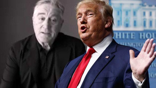 """De Niro über Trump: """"Er ist so dumm! Er ist ein Hund, ein Schwein, ein Meister des Scheißdrecks."""" (Bild: YouTube, AP)"""