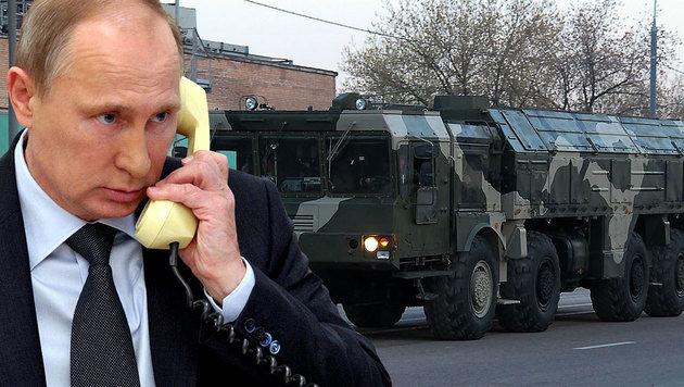 Kremlchef Wladimir Putin ordnete die Stationierung von Iskander-Raketen in Kaliningrad an. (Bild: AP, wikipedia.org/Vitaliy Ragulin)