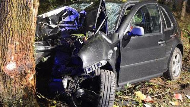 Drei Schwerverletzte bei Alko-Unfall in Wien (Bild: LPD WIEN)