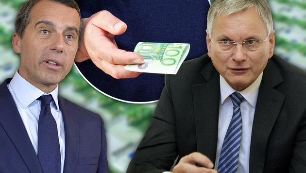 Kern und Stöger wollen 100 Euro extra für Rentner (Bild: APA/Herbert Neubauer, thinkstockphotos.de)