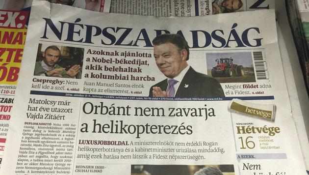 Ungarische Oppositionszeitung eingestellt (Bild: ASSOCIATED PRESS)