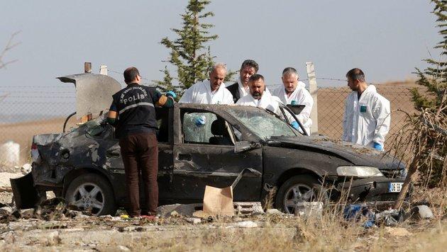 Ankara: Terroristen jagten sich selbst in die Luft (Bild: APA/AFP/Adem Altan)