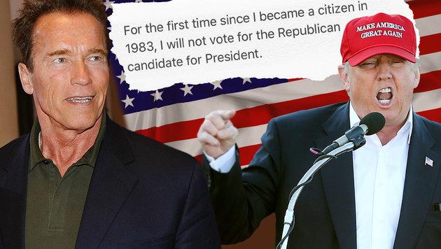"""Jetzt reicht""""s Arnie: Keine Hilfe mehr für Trump (Bild: APA/Robert Parigger, AP/John Bazemore, thinkstockphotos.de)"""