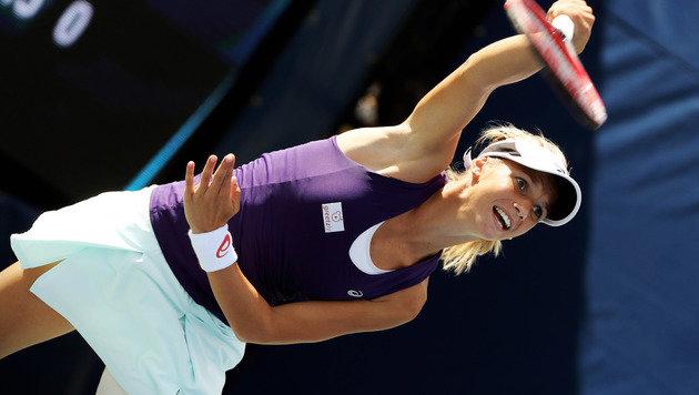 Skurril! Haas zog sich Linz-Gegnerin Görges selbst (Bild: GEPA)