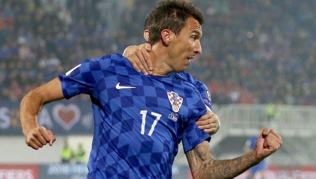 WM-Quali: Kroatien siegt dank Stürmer Mandzukic (Bild: APA/AFP/GENT SHKULLAKU)