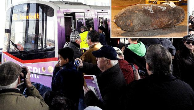 500-Kilo-Bombe bei Wiener U-Bahn entdeckt (Bild: dpa/Malte Christians, APA/Herbert Pfarrhofer (Symbolbild))