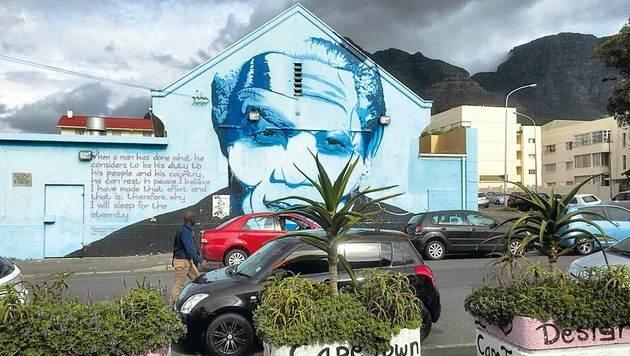 Nelson Mandela, Südafrikas Freiheitsheld, ist allgegenwärtig. (Bild: Gregor Brandl, Kronen Zeitung)