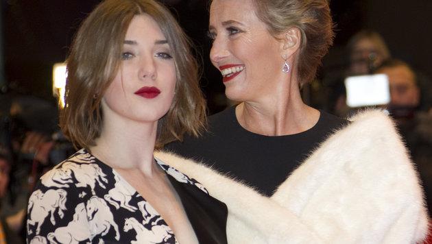 Emma Thompson und Tochter Gaia (Bild: Viennareport)