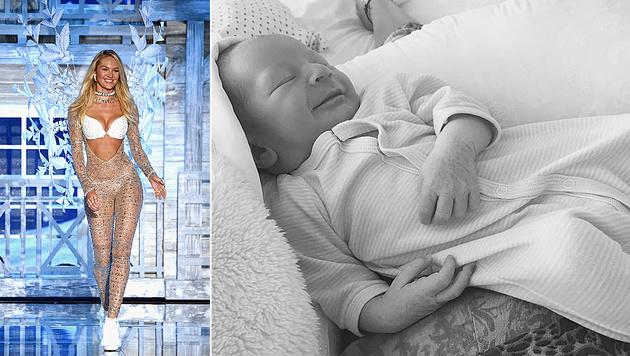 Candice Swanepoel ist zum ersten Mal Mama geworden. (Bild: APA/AFP/Jamie McCarthy, instagram.com/angelcandices)