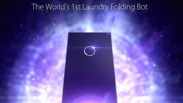 Dieser Roboter legt für Sie die Wäsche zusammen (Bild: laundroid.sevendreamers.com)