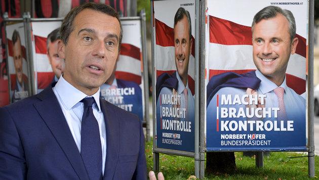 """Kern: """"Österreich ist kein rassistisches Land"""" (Bild: APA/ROLAND SCHLAGER, APA/HERBERT NEUBAUER)"""
