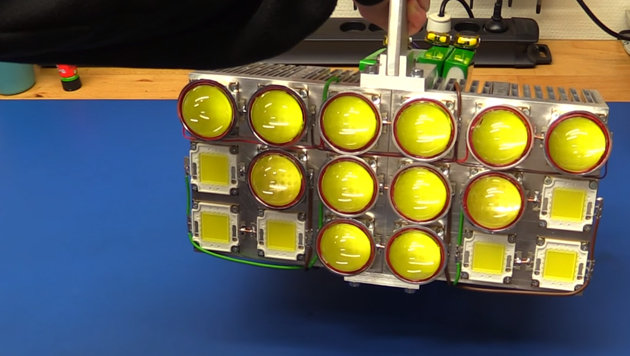 """Tüftler verstört mit 162.000-Lumen-""""Taschenlampe"""" (Bild: YouTube.com/EcProjects)"""