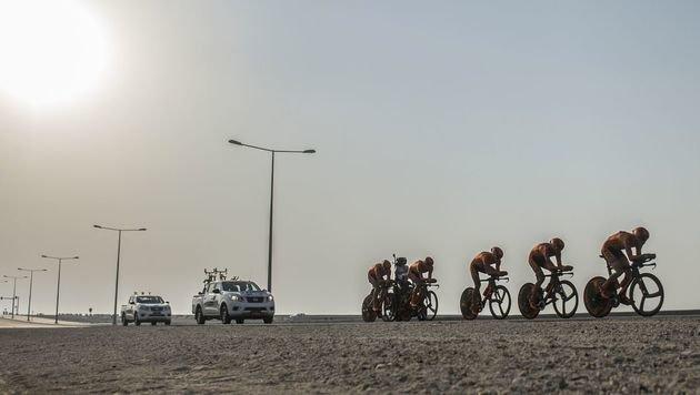 """Wie in Sauna!"" - heftige Kritik an Rad-WM in Doha (Bild: AFP)"
