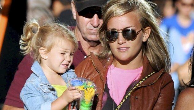 Jamie Lynn Spears 2010 mit Tochter Maddie (Bild: Viennareport)