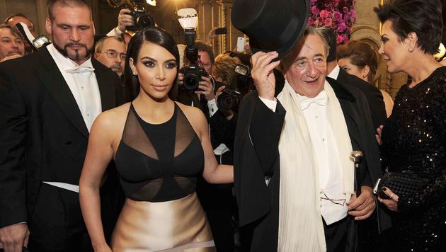 Kim Kardashian brachte Richard Lugner 2014 zum Verzweifeln. (Bild: APA/HERBERT PFARRHOFER)