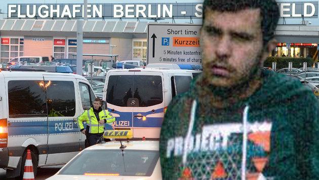 Ermittler: Terrorplan für Blutbad auf Flughafen (Bild: APA/dpa/Maurizio Gambarini, APA/AFP/Landeskriminalamt Sachsen)