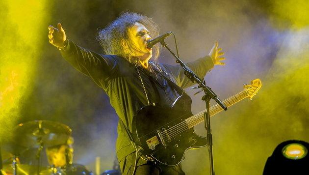Goth-Rock-Legende The Cure live in Wien zu sehen (Bild: Chino Lemus/EPA)