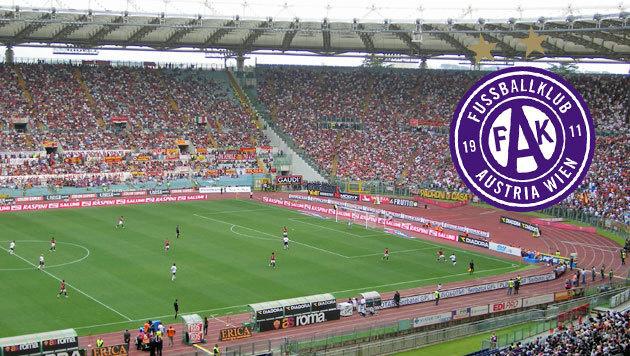 Mindestens 1.200 Fans begleiten Austria nach Rom (Bild: FAK Austria Wien)