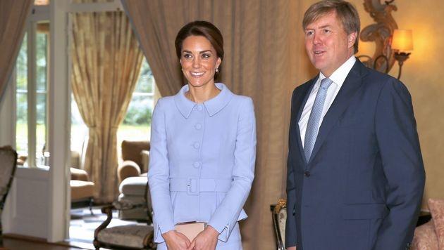 Kate beim Treffen mit Willem-Alexander (Bild: AFP)
