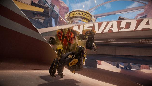 """Der Shooter """"RIGS Mechanized Combat League"""" schickt Gamer und ihre Mechs in die Arena. (Bild: Sony)"""