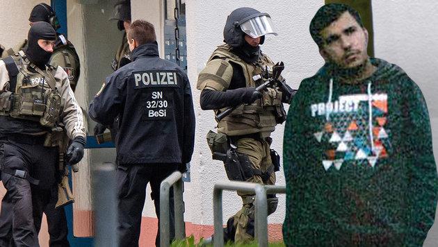 "Bakrs Bruder behauptet: ""Polizei hat ihn getötet"" (Bild: APA/AFP/Landeskriminalamt Sachsen, AP)"