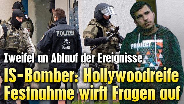 IS-Bomber: Zweifel an hollywoodreifer Festnahme (Bild: APA/AFP/Landeskriminalamt Sachsen, AP)