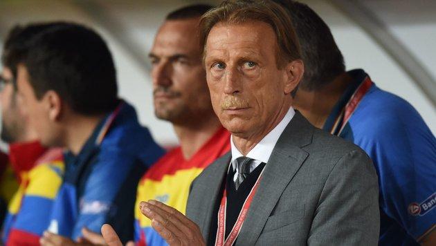 Schock für Daum: Rumäniens Nationalteam bestohlen! (Bild: APA/AFP/DANIEL MIHAILESCU)