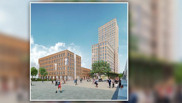 Wien: Baustart für das weltgrößte Holzhochhaus (Bild: APA/RLP Rüdiger Lainer + Partner Architekten)