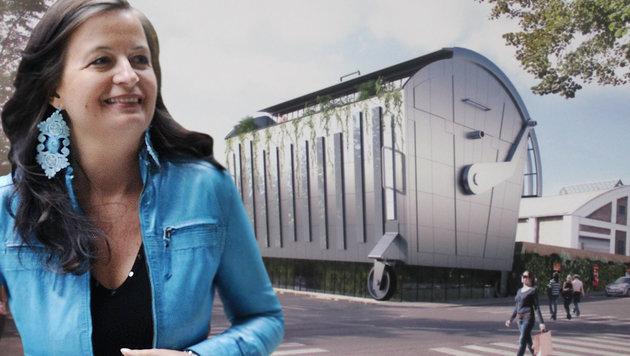 """Wien: Stadträtin wollte """"Riesenmistkübel"""" als Büro (Bild: Falter, APA/HERBERT PFARRHOFER)"""