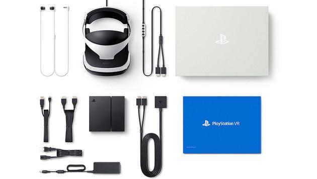 Der Lieferumfang: Headset, Prozessoreinheit, Kabel, Ohrstöpsel und Anleitung. (Bild: Sony)
