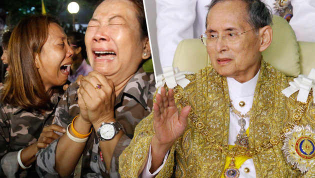Thailand: Wer zu wenig trauert, dem droht Strafe (Bild: AP/Sakchai Lalit, AP)