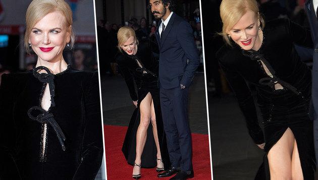 Nicole Kidman erleidet Beinahehöschenblitzer! (Bild: EPA, Viennareport)