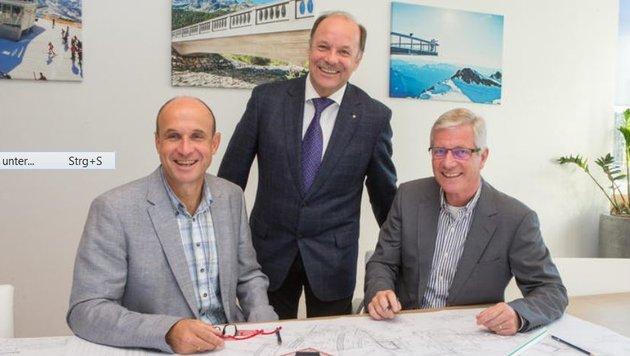DI Gerald Haussteiner, DI Dr. Hans-Georg Leitner und DI Harald Schlosser. (Bild: BauCon)