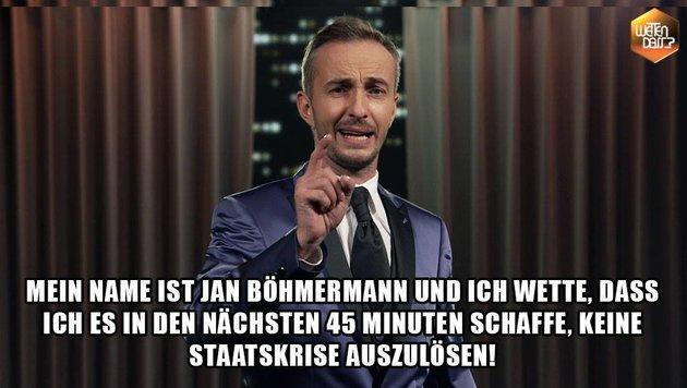 """""""Wetten, dass..?"""" von Böhmermann mit Fake-Wetten (Bild: facebook.com/neomagazinroyale)"""
