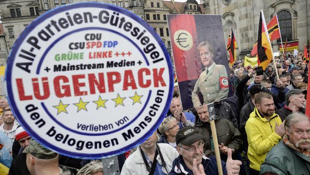 """""""Dieses Deutschland werdet ihr nicht kriegen"""" (Bild: AFP)"""