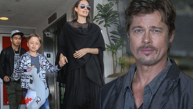 Angelina Jolie und Brad Pitt: Keine Rettung der Ehe mehr möglich! (Bild: Viennareport, AP)