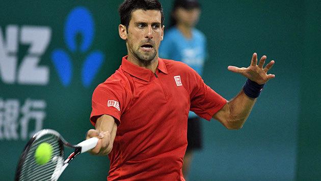 Djokovic müht sich ins Shanghai-Halbfinale (Bild: APA/AFP/JOHANNES EISELE)