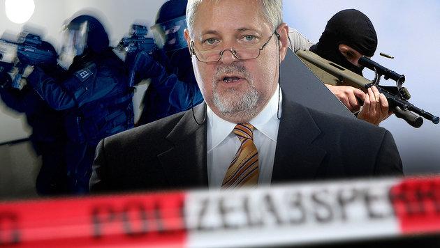 Im Flüchtlingsstrom kamen auch Terrorzellen zu uns (Bild: dpa/Nestor Bachmann, APA/HANS KLAUS TECHT, APA/ROLAND SCHLAGER)