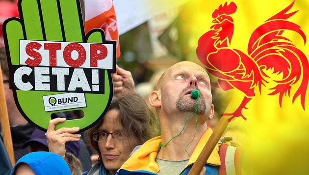 Im Gegensatz zu SPÖ: Wallonien legt sich quer (Bild: AP, thinkstockphotos.de)