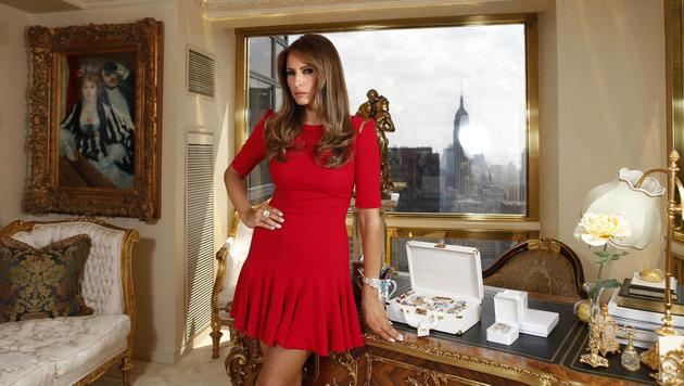 """Melania Trump in ihrem Büro im Penthouse des """"Trump Tower"""" (Bild: Viennareport)"""