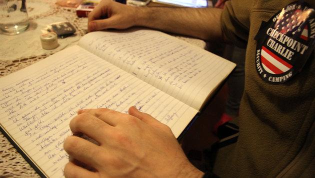 Das Tagebuch aus der Haft (Bild: Andi Schiel)