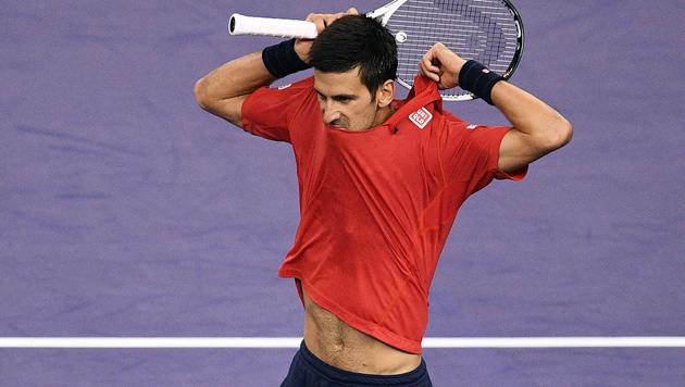 Schläger zertrümmert! Wütender Djokovic out (Bild: AFP)