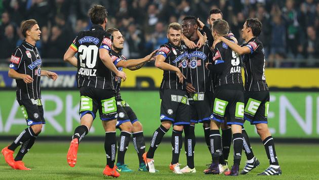 Sturm Graz nach 1:0 gegen Ried weiter im Höhenflug (Bild: GEPA)