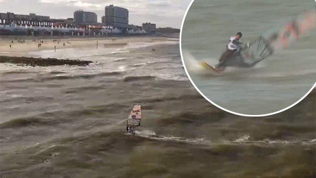 Surf-Spektakel! Matissek ärgert den Weltmeister (Bild: Max Matissek)